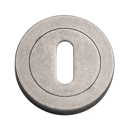 Pewter Effect round escutcheon