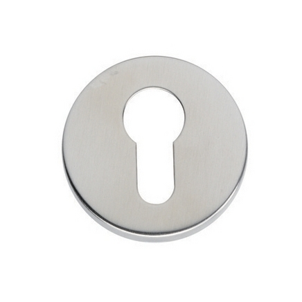 Stainless Steel Euro profile round escutcheon