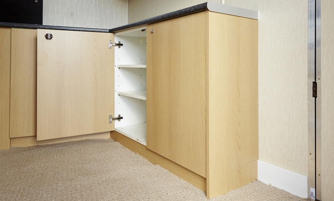 Floor mounted wall units