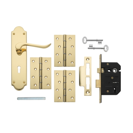 Brass 3 Lever Lock Pack