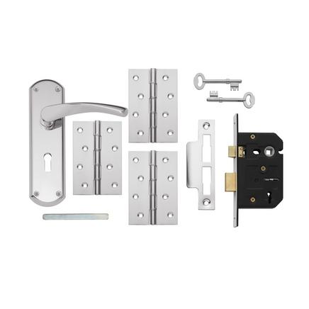 Chrome 3 Lever Lock Pack