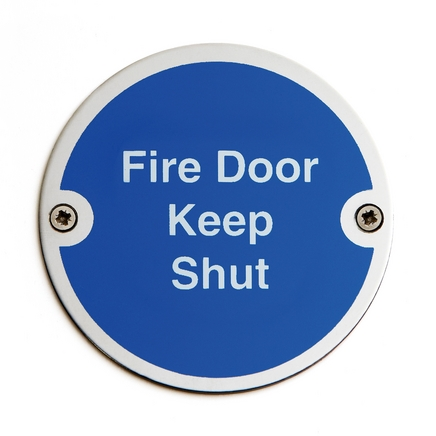 Fire Door Keep Shut Signage Commercial Door Furniture