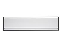 Satin Chrome Sleeved letter plate