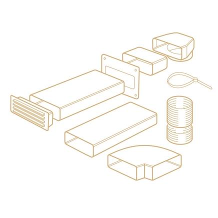 Rigid ducting kit