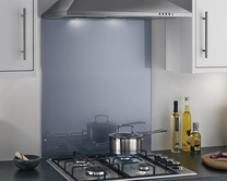 Toughened coloured glass splashbacks