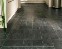 Professional Continuous Black Slate laminate tiles