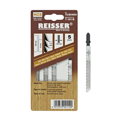 Reisser (T101B) for wood and board materials 3-30mm (Pack of 5)