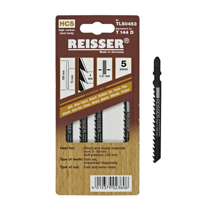 Reisser (T114D) for wood and board materials 5-50mm and soft plastics less than 50mm (Pack of 5)