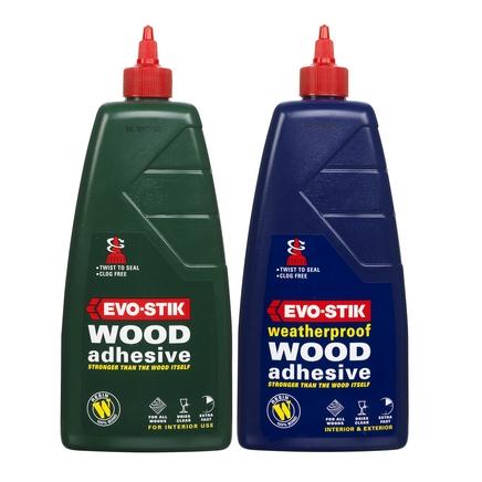 Evo-Stik wood adhesive & Evo-Stik waterproof wood adhesive 1 litre