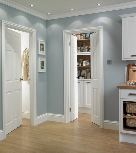 6 panel grained door internal moulded panel doors for Moulded panel doors