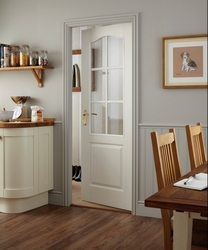 Arched Top grained 6 light glazed door