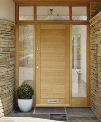 External Linear Oak door