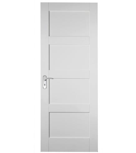 Primed 4 Panel Shaker door