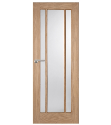 Worcester oak glazed door internal hardwood doors for Hardwood entrance doors