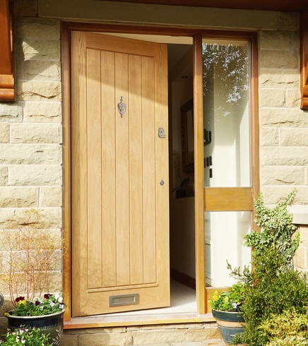 External dordogne oak door external hardwood doors for Hardwood front doors