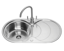 Lamona round bowl sink with drainer