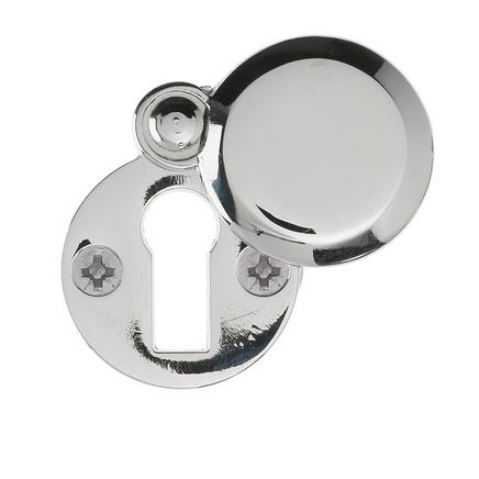 Chrome round covered escutcheon