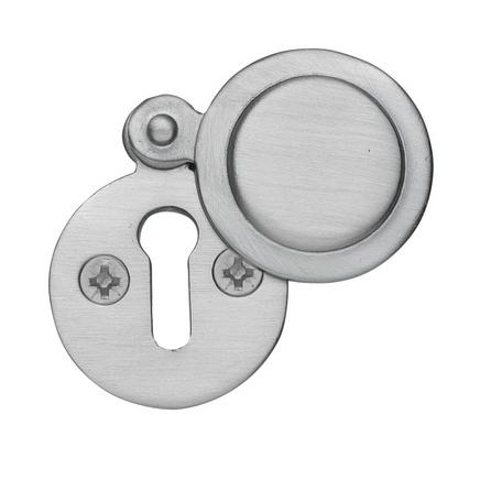 Satin Nickel round covered escutcheon