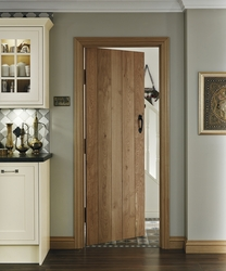 Solid Rustic Oak ledged door