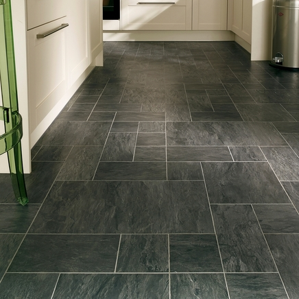 Professional continuous black slate laminate tiles for Grey bathroom laminate flooring