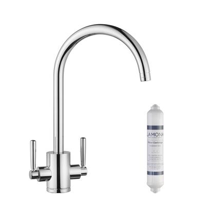 Lamona Chrome Garda swan neck filter monobloc tap