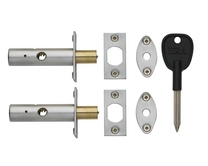 Satin door security bolt twin pack