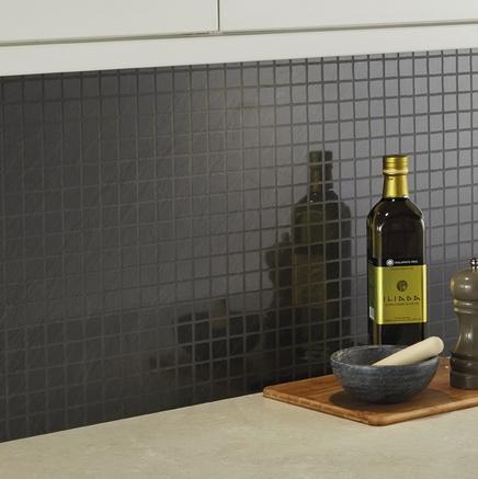 Black Slate Small Tile Effect backboard