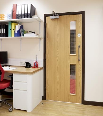 Oak foil 16G glazed door & Oak foil 16G glazed door | Internal flush doors | Doors u0026 joinery ... pezcame.com