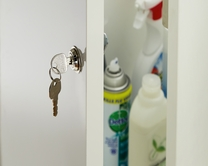 Chrome finish cabinet lock