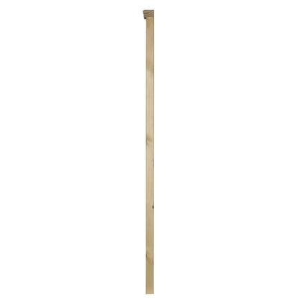 Redwood square half newel post with cap