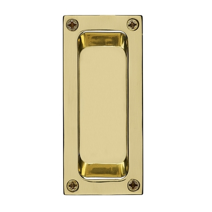 Brass flush handle