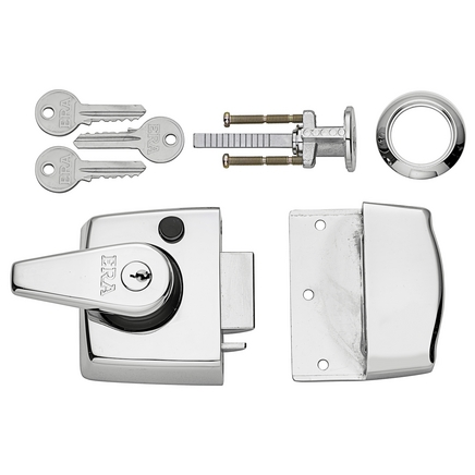 ERA Double locking nightlatch Chrome case & cylinder