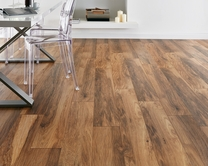 Professional V Groove Hickory laminate flooring