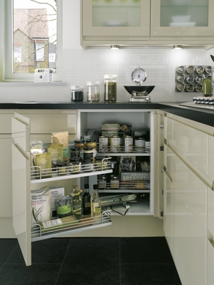 Gloss flint integrated handle kitchen range kitchen families howdens joinery - Kitchen backboards ...