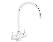 Lamona Chrome Rienza swan neck monobloc tap
