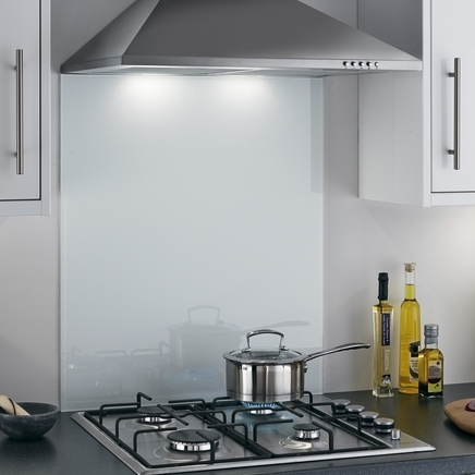 Toughened White coloured glass splashback