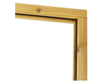 Assembled double softwood door frame