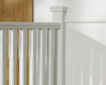 Chamfered half newel post