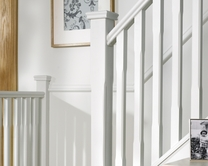 Chamfered newel post