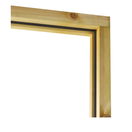 Assembled softwood door frame (opens out)