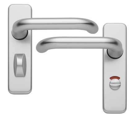 Aluminium Roundbar 19mm bathroom door handle