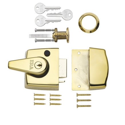 ERA Double locking nightlatch Brass case & cylinder