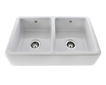 Lamona ceramic double Belfast sink