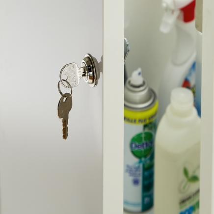 Chrome finish cabinet lock | Kitchen fixtures & fittings | Howdens ...