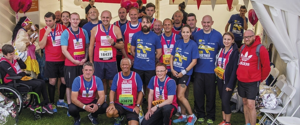 The Howdens Joinery team at the Great North Run 2015