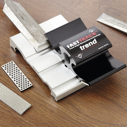Trend fast track diamond sharpening stone honing system
