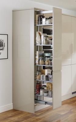 Gloss Stone Integrated Handle Kitchen Range Kitchen