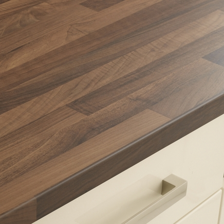 walnut block effect worktop kitchen worktops howdens