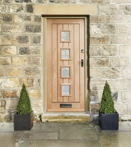 External dordogne oak glazed door external hardwood for Oak front doors