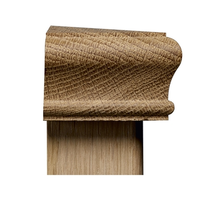 Half newel cap (square oak)